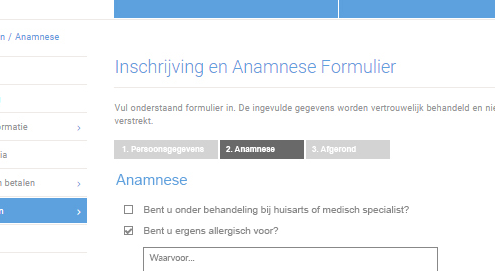 anamnese-formulier